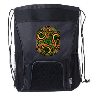 Colorful Celtic symbol on drawstring backpack