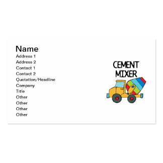 Colorful Cement Mixer Business Card