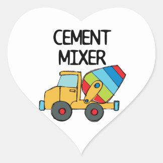Colorful Cement Mixer Heart Sticker