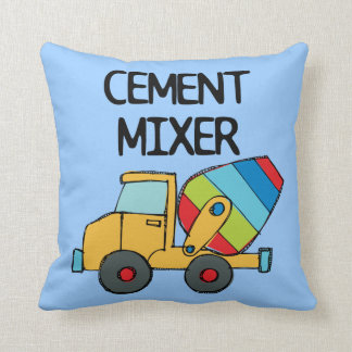 Colorful Cement Mixer Pillow