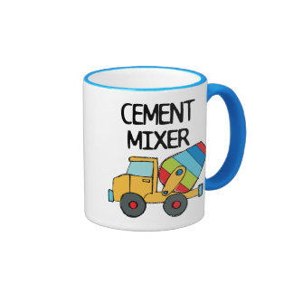 Colorful Cement Mixer Ringer Coffee Mug