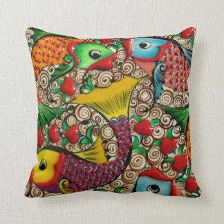Colorful Ceramic Fish Pillow