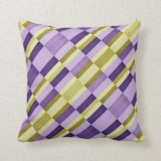 colorful ceramic pattern purple geometric design pillow