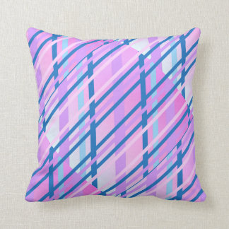 colorful ceramic pattern purple geometric design throw pillow