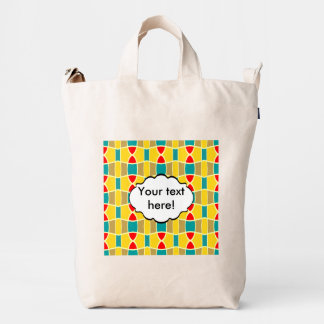Colorful chains pattern duck bag