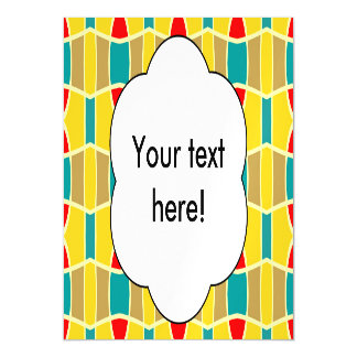 Colorful chains pattern magnetic card