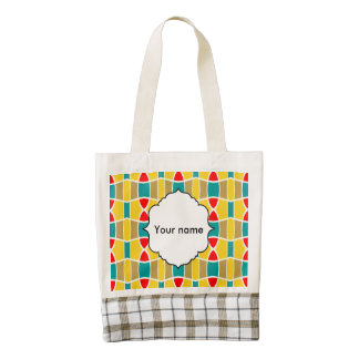 Colorful chains pattern zazzle HEART tote bag