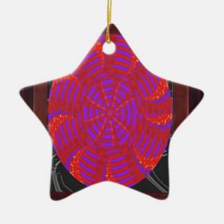Colorful chakra energy wheel circle round gifts 99 christmas tree ornament
