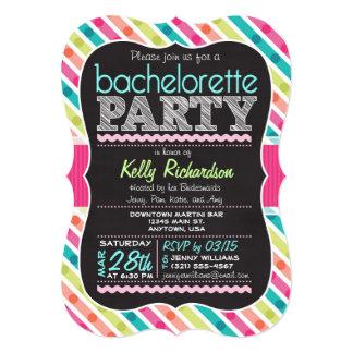 Colorful Chalk look Bachelorette Party Invitation