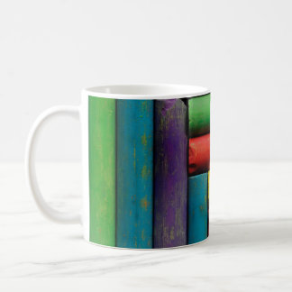 Colorful chalks coffee mug