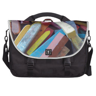 colorful chalks grouped together bags for laptop