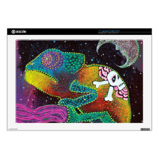 "Colorful Chameleon 17"" Laptop Skins"