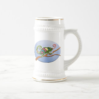 Colorful Chameleon Beer Stein