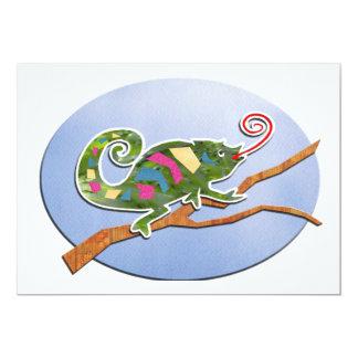 Colorful Chameleon Card
