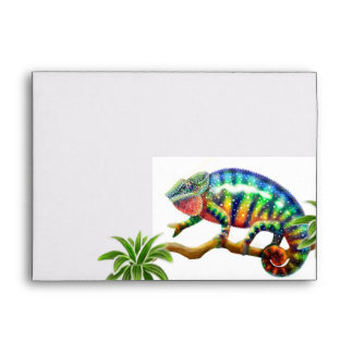 Colorful Chameleon Envelope