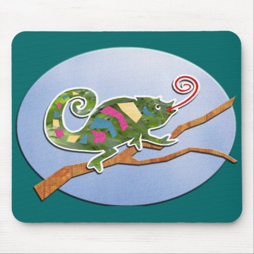 Colorful Chameleon Mouse Pad