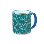 Colorful Chameleon Pattern Ringer Mug