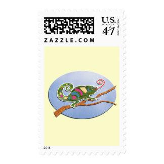 Colorful Chameleon Postage