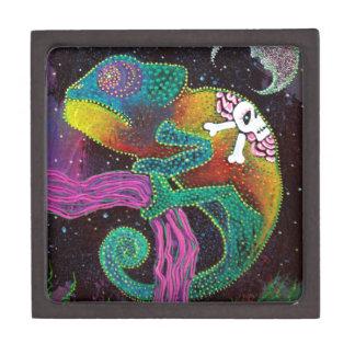 Colorful Chameleon Premium Trinket Boxes