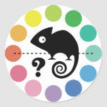 Colorful chameleon round stickers