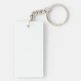 Colorful Change Accessories 1-Sided  Rectangular Keychain