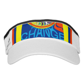 Colorful change monogram sweatband art design visor