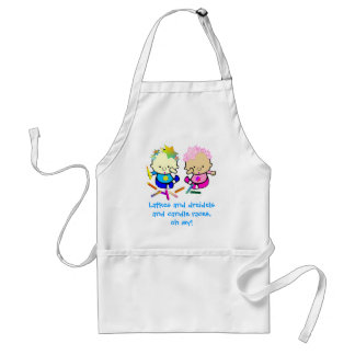 Colorful Chanukah Candle Kids Adult Apron
