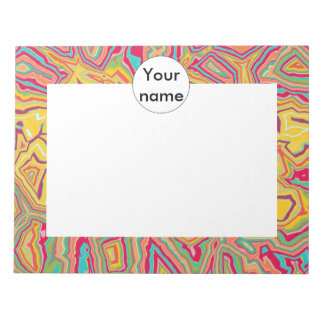 Colorful chaos abstract design notepad