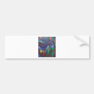 Colorful Chaos (abstract landscape) Car Bumper Sticker