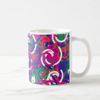 Colorful Chaos Abstract Scribbles Pattern Design Coffee Mug