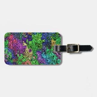 Colorful Chaotic Abstract Bag Tag