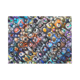 Colorful Chaotic Contours Doormat