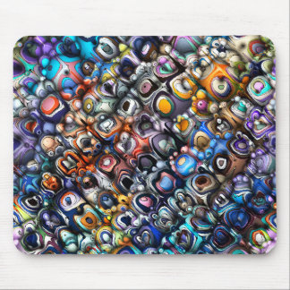 Colorful Chaotic Contours Mouse Pad