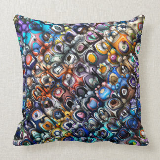 Colorful Chaotic Contours Throw Pillow