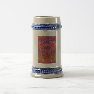 Colorful chaotic pattern 18 oz beer stein