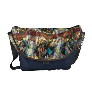Colorful Chaotic Shapes Messenger Bag