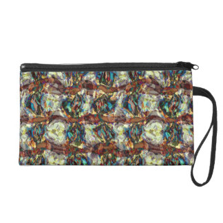Colorful Chaotic Shapes Wristlet