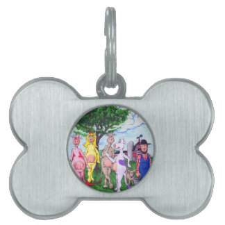 Colorful Chatty Cows Pet Name Tag