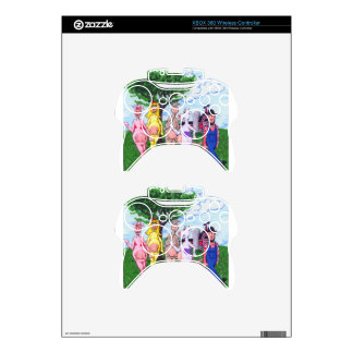 Colorful Chatty Cows Xbox 360 Controller Skins