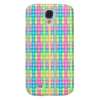 Colorful check pern design samsung s4 case