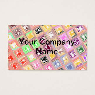 Colorful Checkered Design Business Card