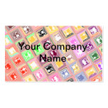 Colorful Checkered Design Business Cards