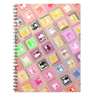 Colorful Checkered Design Spiral Note Book