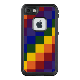 Colorful Checkered Rainbow Pattern LifeProof® FRĒ® iPhone 7 Case