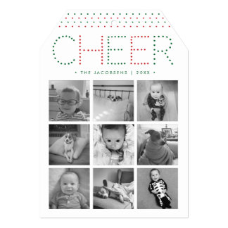 Colorful Cheer | Holiday Photo Collage Card