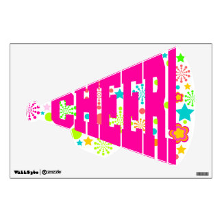"""Colorful """"Cheer!"""" Megaphone Wall Decal"""