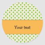 Colorful, cheerful dots stickers