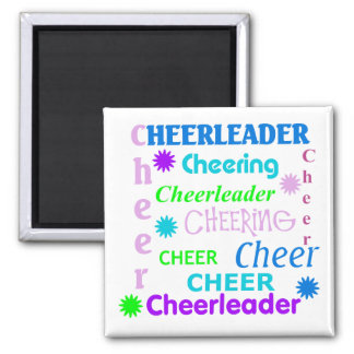 Colorful Cheerleader Magnet