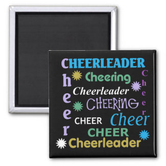 Colorful Cheerleader Magnet