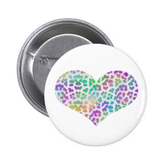 Colorful Cheetah Button